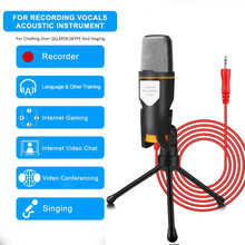 цена на Hot Sf 666 Condenser Microphone Studio Audio Microphone With Tripod Stands Computer Microphones For Online Teacher Class VIPKIDS