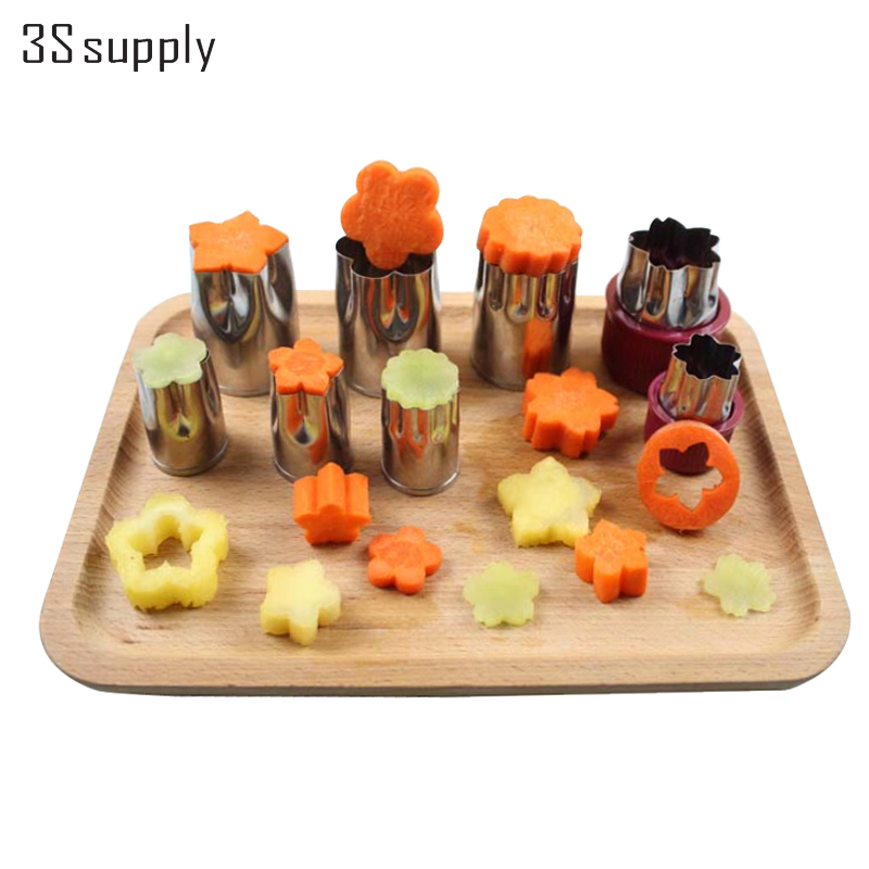 Multifunction 8Pcs chrome steel Flower megastar shape Vegetable Fruit Cutter mold <font><b>As</b></font> <font><b>obvious</b></font> <font><b>On</b></font> <font><b>tv</b></font> kitchen add-ons objects