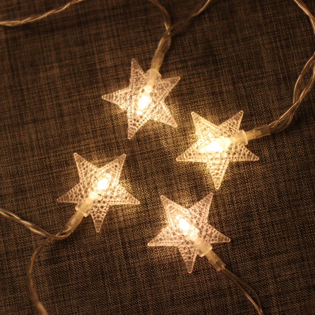 1 5 2 6m Led Star String Lights Fairy Christmas Indoor Party Wedding Decoration Battery Operate Le Lamp