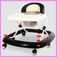 Multi Function Baby Walker With Wheels Rollover Trolley Winter Infant Baby Walking Assistant Folding Wheelchair Adjustable