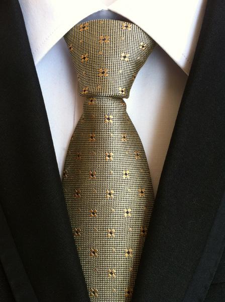 Real geométrica homens de vendas da loja escritório Formal de trabalho vestidos de casamento de Champagne Gravata Gravata Gravata