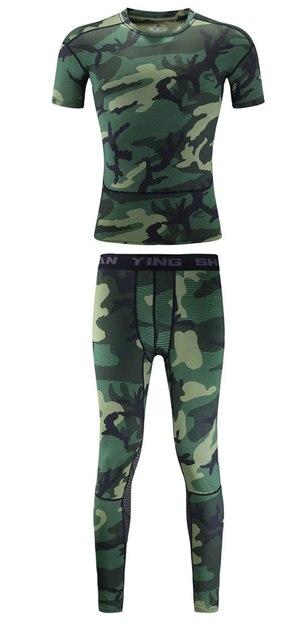 Camouflage Running Sets Men Sport Suit  1