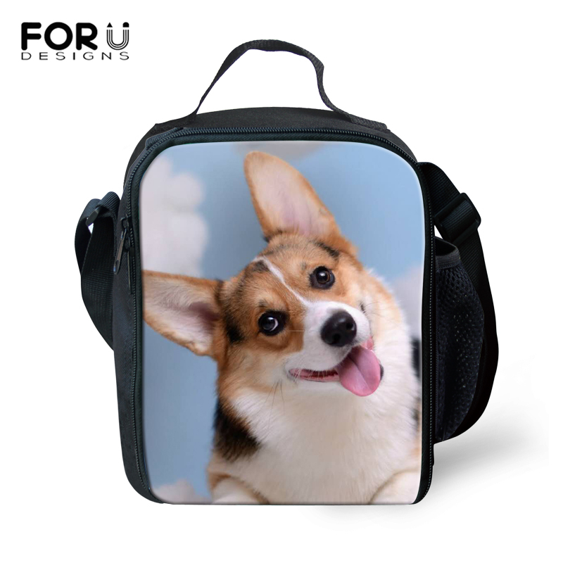 Luggage & Bags Functional Bags Expressive Forudesigns Corgi 3d Printing Reusable Lunch Bag For Kids 2019 Thermal Insulated Lunchbag For Children Snack Food Picnic Bag Wide Selection;