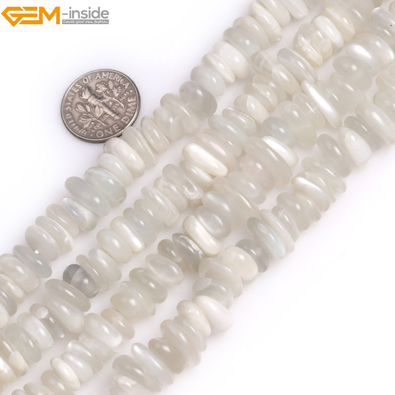 Gem-inside 8x12mm Natural Moonstone Chips Beads For Jewelry Making 15inches DIY Jewellery Christmas Gift