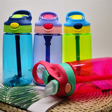 480ML Kids Baby Sport Water Bottle BPA Free Children's Cup Baby Portable Feeding Bottle With Straw Leak Proof Durable Water Cup baby feeding water bottle portable no spill cup my plastic bottle children s small kettle with straw food grade slide cover copo