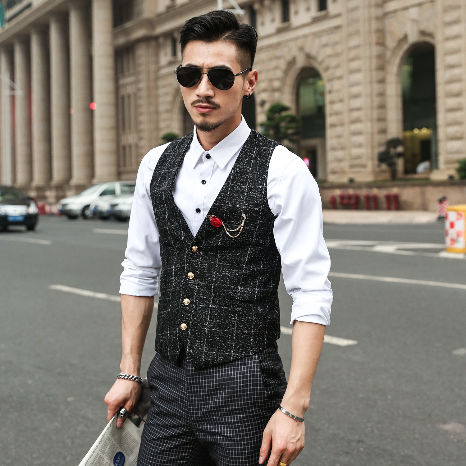 Online Get Cheap Double Breasted Vest Suit -Aliexpress.com ...