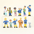 2.5-6cm 12pcs/set Fireman Sam Cute Cartoon PVC Action figure Toys Dolls For Kids Christmas Gift