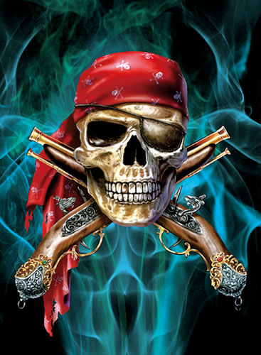 New Pirate Skull Lenticular 3D Picture Poster Painting Home Decor