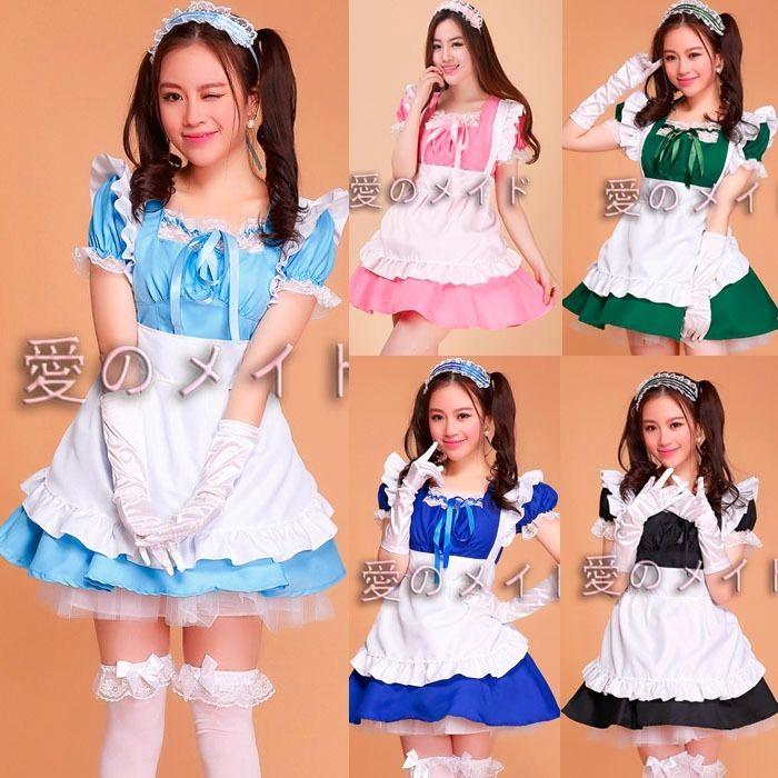 Kagerou Project Girls Blau Maid Costume Cosplay MekakuCity Actors Uniform Dress Mermaid Alice in Wonderland Fantasia Carnival