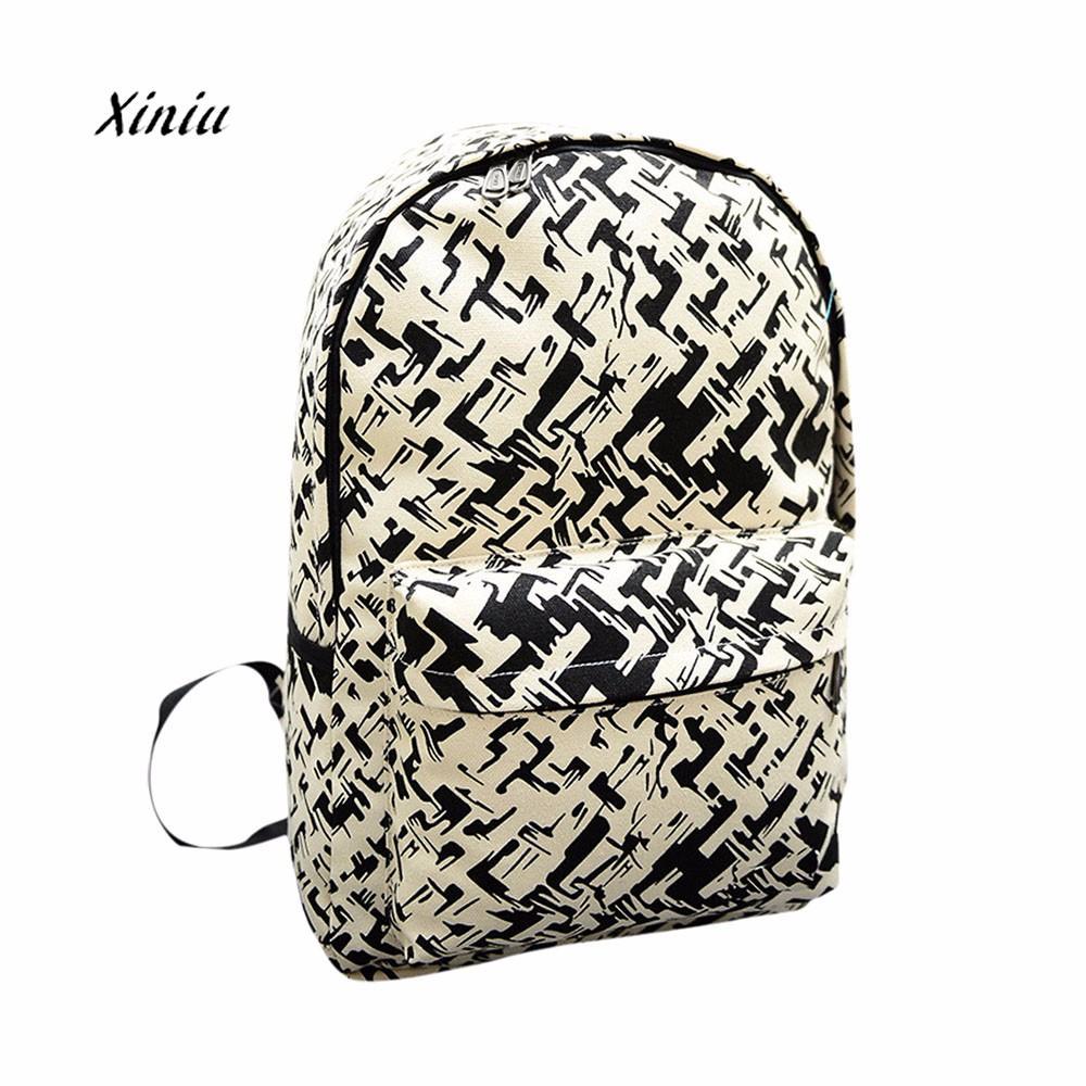 New Fashion Women Backpack Canvas School Bag Printing School Backpacks Travel Shoulder Bags Laptop Backpack For Teenage Girls