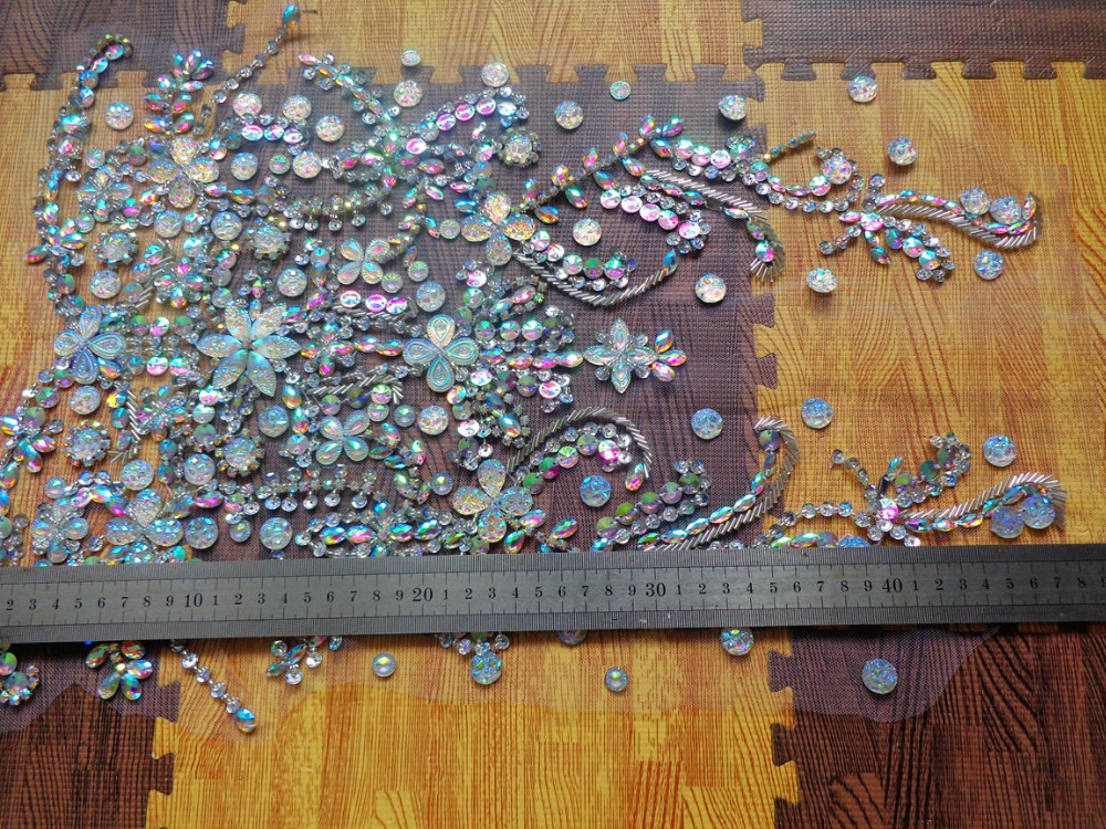 costurar em strass applique guarnição cristais remendos