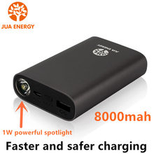 Power Bank 8000mAh Fast charging With Ultra bright LED flashlight Portable External Battery usb output For phones Tablet