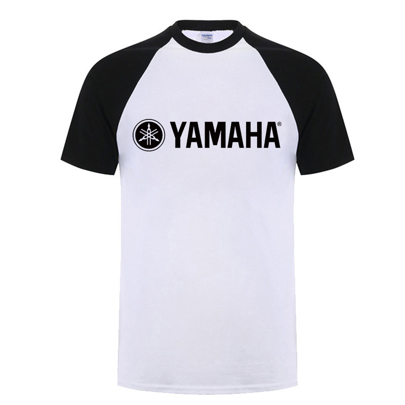 LIE XING YAMAHA logo T shirt Clothing Letter Print tees Short Sleeve Raglan T-Shirt