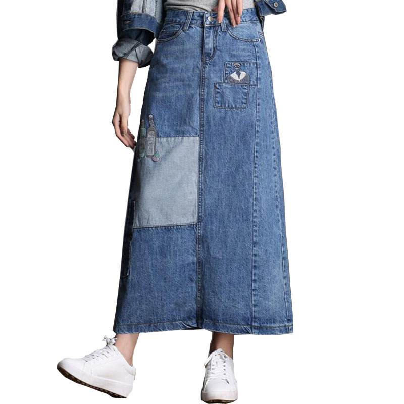 Long Jean Skirts Promotion-Shop for Promotional Long Jean Skirts ...