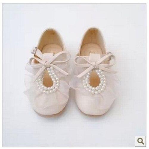 2016 Autumn Children Girls Lace Princess Dress Single Shoes PU Surface Free Shipping