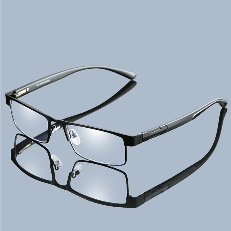 High Quality MEN Titanium alloy Eyeglasses Non spherical 12 Layer Coated lens reading <font><b>glasses</b></font> +<font><b>1.0</b></font> +1.5 +2.0 +2.5 +3.0 +3.5+4.0 image
