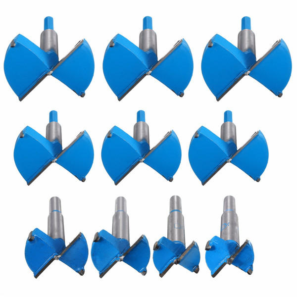 цена на Kit 30-70mm Forstner Drill Bits Wood Working Boring Hard Alloy Hole Saw Cutter Set