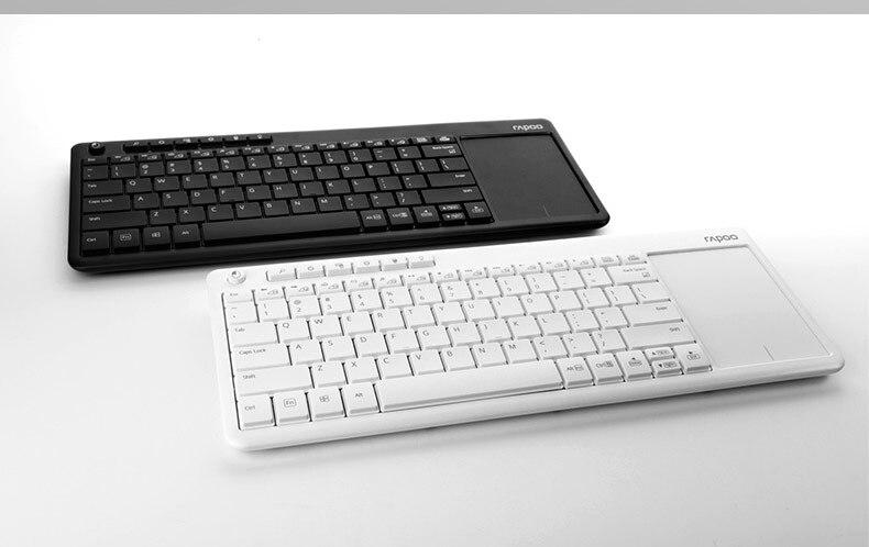 Clavier tactile sans fil Rapoo K2600 2.4G claviers minces avec grand écran tactile pour Smart TV/ordinateur portable/ordinateur/tablette