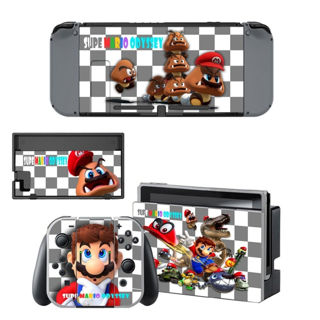 Gift Popular Game Super Mari o Skin Sticker For Nintend Switch Console Controller Vinyl Skin Cover Accessories NS 1