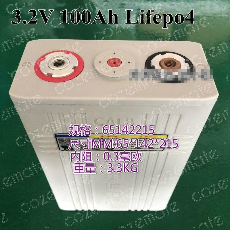 4pcs High Capacity 100Ah 3 2v Lifepo4 Cell for Diy Pack Batterie 12v 100ah 12 8v