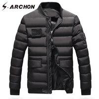 S ARCHON Winter Air Force Pilot Parka Jackets Men Warm Thick Windproof Military Tactical Parka Clothes