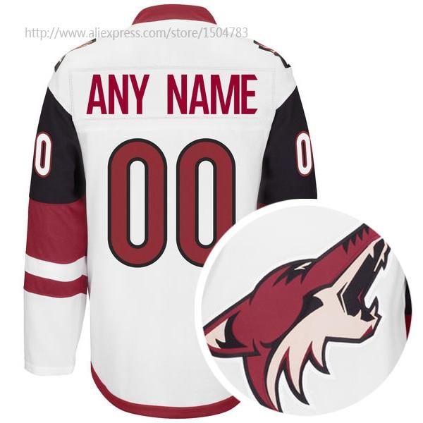 sale retailer 9c357 f3f12 Arizona Coyotes Custom Road White Jersey Authentic Ice ...
