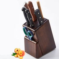 Top Grade Bamboo Kitchen Knife Holder Wood Multifunctional Holder Knife Kitchen Utensils Storage Rack Knife Rack Supplies