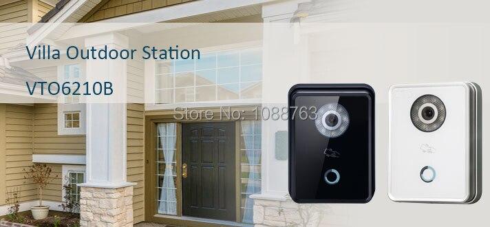 DAHUA Video Door Phone Building Video intercom Villa Outdoor Station Support unlock remotely door lock Without Logo VTO6210B