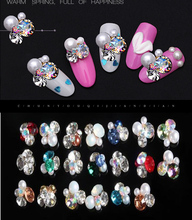 50pcs/100pcs nail jewellery, 3D Nail Art Charm Glass Rhinestone gems,16 Colors art Diamond for For Charms