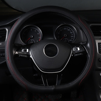 car steering wheel cover non slip genuine leather accessories for nissan LEAF micra QASHQAI j10 j11 2011 2017 2018 Peugeot 408