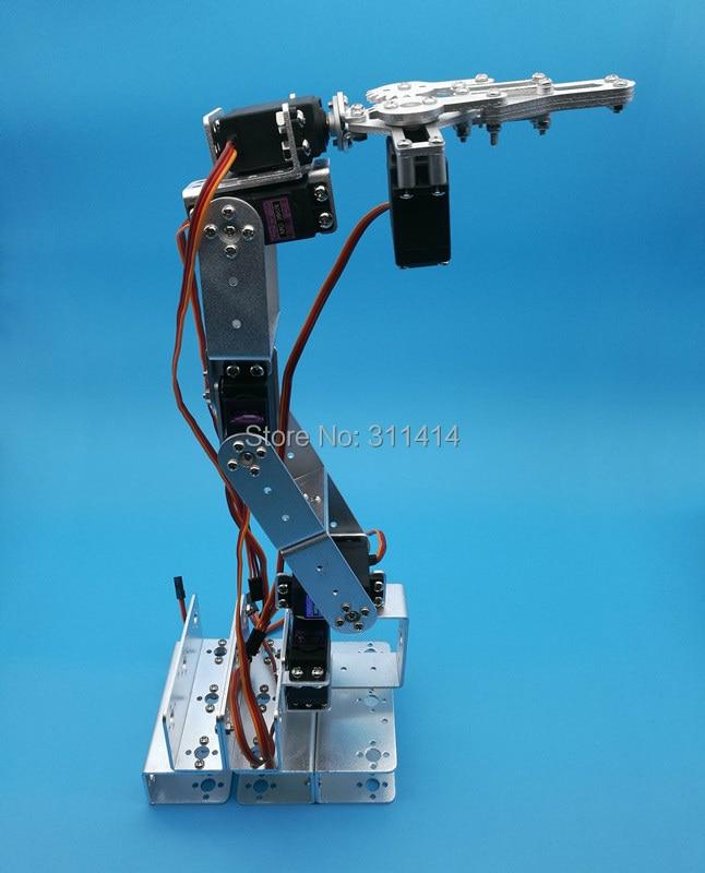 Set dof robot arm mechanical claw large metal base