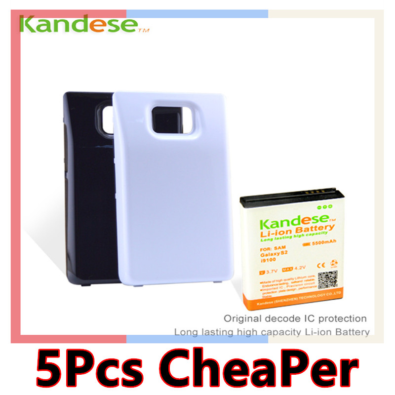 1 pcs lot Brand KANDESE 5500mAh High Capacity Extended Battery with Back Cover Case For Samsung