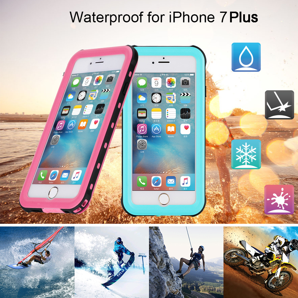 2017 New High Quality Waterproof Diving Outdoor Photograph Case Waterproof Cover Perfect for iPhone7Plus 8Plus