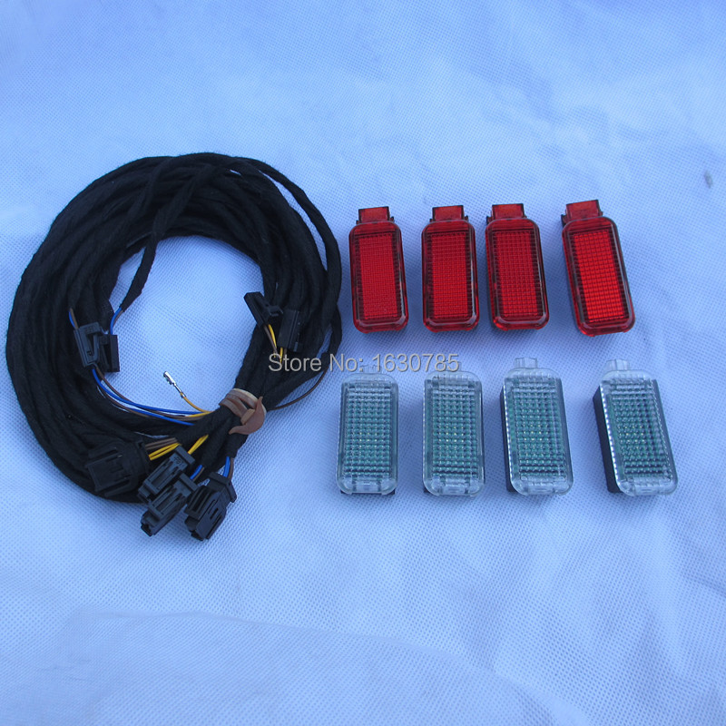 8pieces car interior led lamp light door warning lights for audi a3 a4 a5 a6 a7 q3 q5 8kd 947. Black Bedroom Furniture Sets. Home Design Ideas