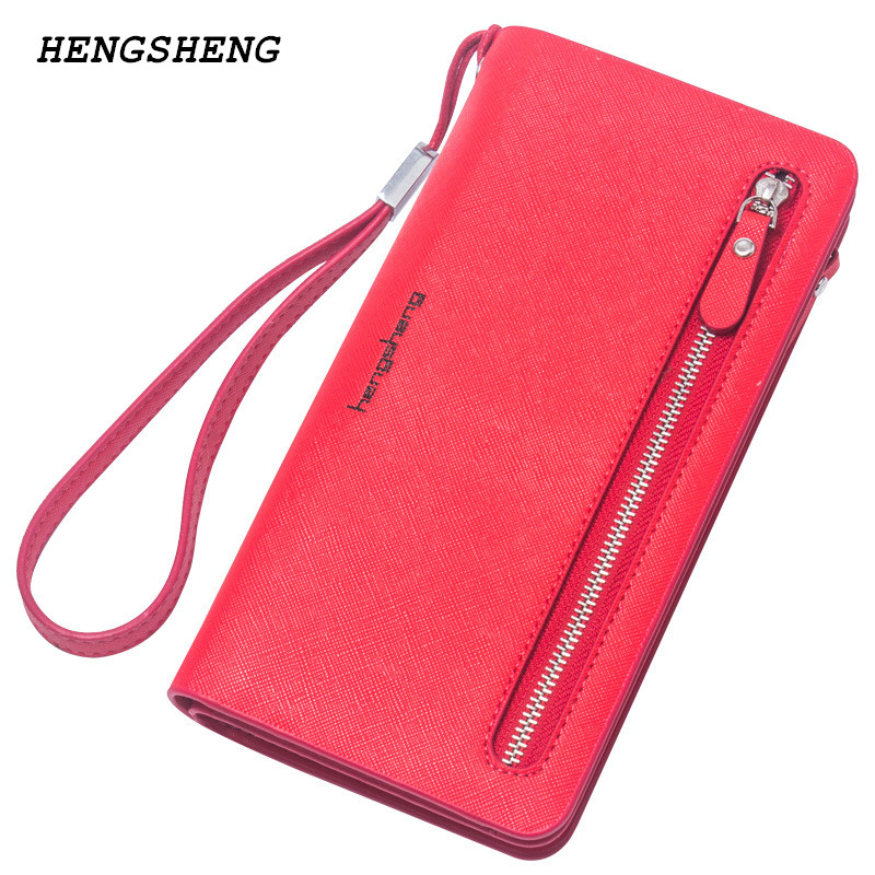 2018 NEW arrival women's wallet brand striped card purse Candy color zipper phone wallet coin purse fashion lady clutch wallet