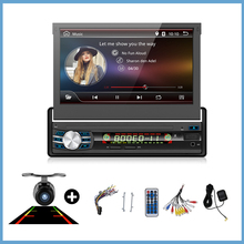 Auto Radio Stereo-Player Bluetooth Telefon AUX-IN MP3 FM/USB/1 Din/remote android 6.0 In-dash versenkbare bildschirm