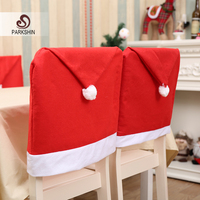 Parkshin Christmas Hat Chair Covers Christmas Decorations Xmas Dinner Party Seat Caps Supplies For Home