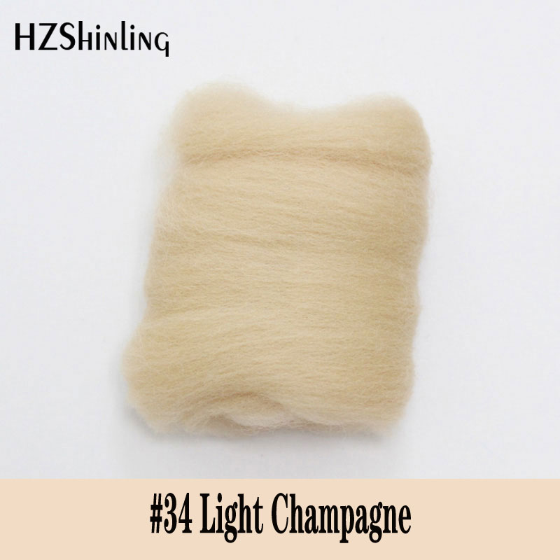 5 G Super Soft Felting Short Fiber Wool Perfect In Needle Felt And Wet Felt Light Champagne Color Wool Accessory