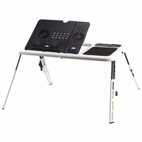 Computer Standing Table Portable Laptop Desk Adjustable Computer Table Bed Sofa Stand Tray USB Cool Fans