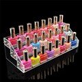 Acrylic Makeup Cosmetic 3 Tiers Clear Organizer Lipstick Jewelry Display Stand Holder Nail Polish Rack Jewelry Display