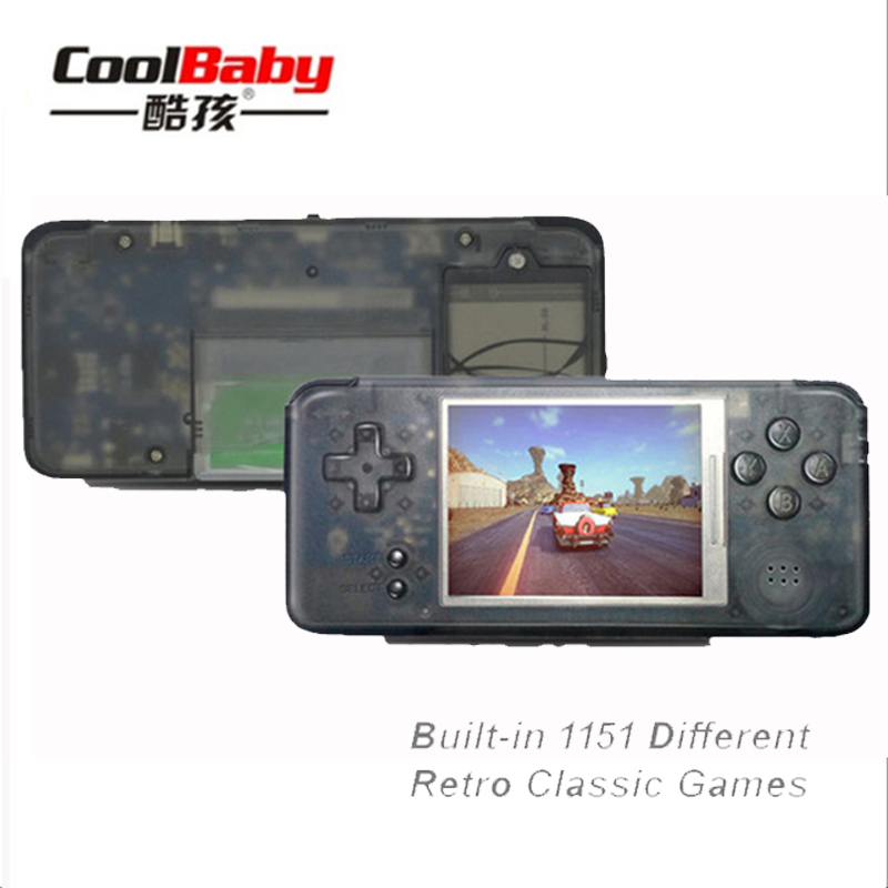 CoolBaby Handheld Game Console Portable Mini Video Gaming Players MP4 MP5 Playback Built-in 1151 Classic Games Childhood Gifts ...