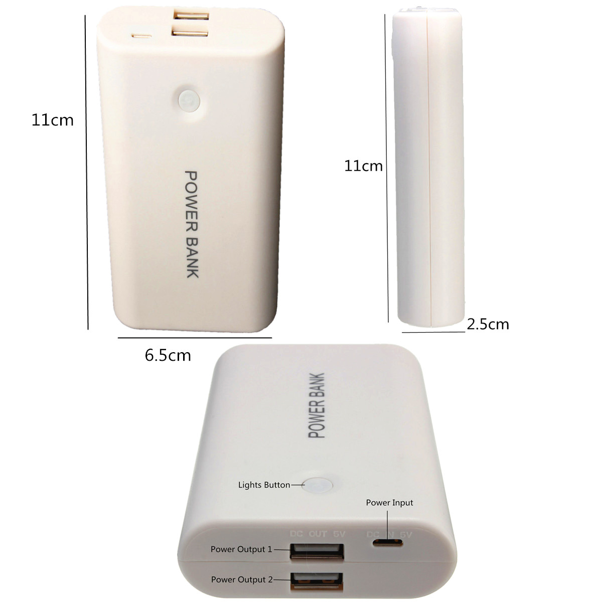 Buy Wholesale Universal White Portable 3x 18650 How To Build Usb Powered Mobile Phone Battery Charger Dual Power Bank Box Case Diy Kit For All Cellphone Mp3 From Reliable