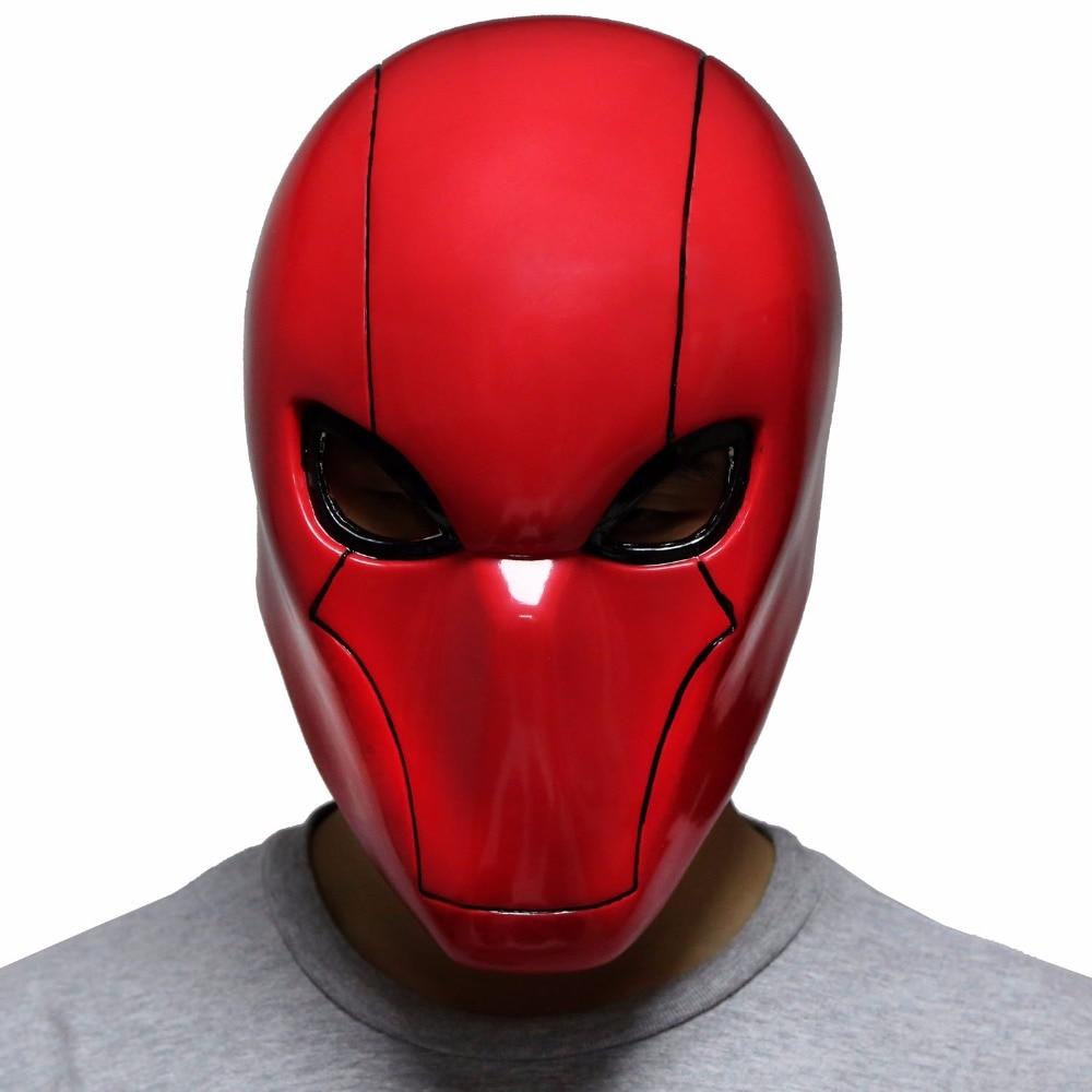 Red Hood Helmet Batman Under the Red Hood Cosplay PVC Full Head Mask Props Xcoser