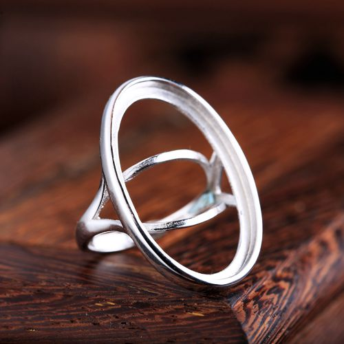 925 Sterling Silver Semi Mount Ring Engagement Wedding Anniversary Party Fine Jewelry 17x27mm Oval Cabochon Wholesale DIY Gem925 Sterling Silver Semi Mount Ring Engagement Wedding Anniversary Party Fine Jewelry 17x27mm Oval Cabochon Wholesale DIY Gem
