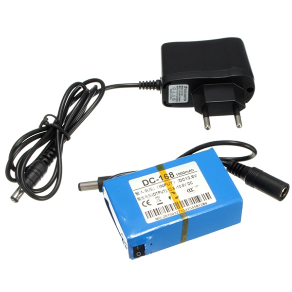 Super Rechargeable Protable Au Lithium-ion Batterie UE Plug pour DC 12 V 1800 mAh