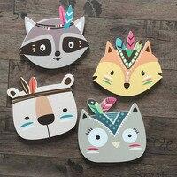 Transfronteiriça Para Casa Crianças Decoração Wpc Ins Ornamentação Evitar Soco Cartão Através Da Parede de Animais