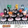 Аниме наруто акацуки пвх Minifigures коллекционные фигурки конструкторы куклы 11 шт./компл. 6.5 см подарки на день рождения рождество