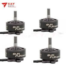 4 pçs/lote/DISFUNÇÃO SUN FUN 2207 1750KV 2400KV 2750KV CW Fio FPV Corrida Brushless Motor Para RC Drone Quadcopter Peças De Reposição
