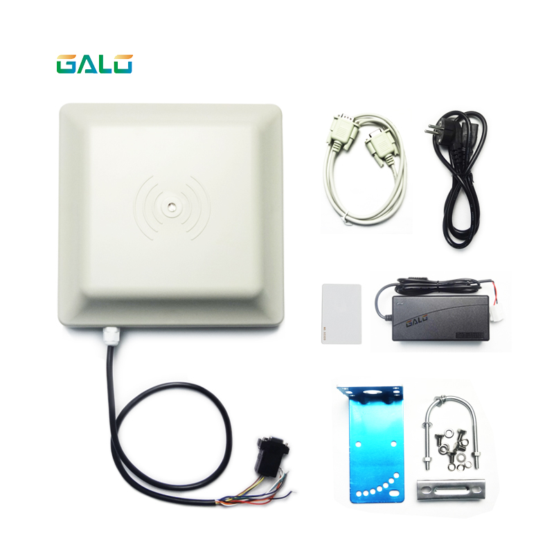 Boom Barrier Gate Car Parking Access System 6m UHF RFID Card Reader Long Range Antenna Reader 2-6M Integrative Kit