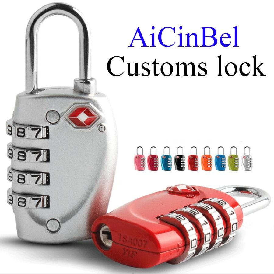 где купить High Quality Resettable 4 Digit AiCinBel TSA Locks Smart Combination Lock For Travel Luggage Suitcase Code Padlock Customs lock дешево